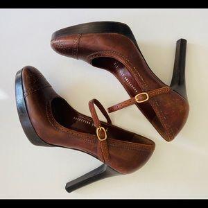 Ralph Lauren Collection Purple Label Chunk Heels